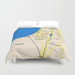 Israel Map design Duvet Cover