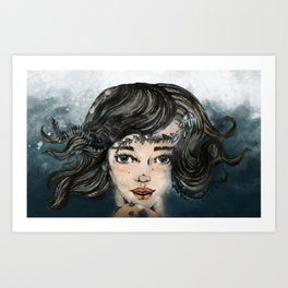 She Makes The Sound The Sea Makes Art Print