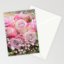 Bouquet of Pink Roses Stationery Cards