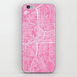 Atlanta map pink iPhone Skin