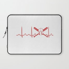 BASEBALL HEARTBEAT Laptop Sleeve