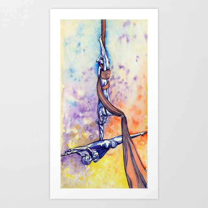 Fly with a little help from my friends Art Print