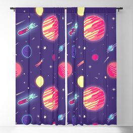 fantasy galaxy Blackout Curtain