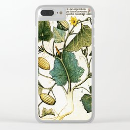 Leaves & Flowers Clear iPhone Case