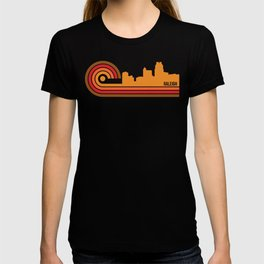 Retro Style Raleigh North Carolina Skyline T-shirt