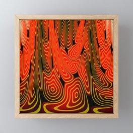 Molten lava Framed Mini Art Print