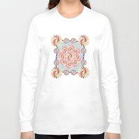 quilt Long Sleeve T-shirts featuring Mandala Quilt by Helene Michau