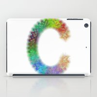 letter iPad Cases featuring Letter C by David Zydd
