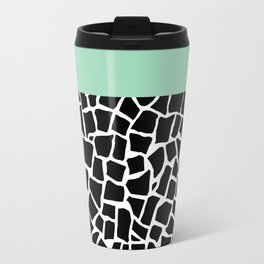 British Mosaic Mint Boarder Travel Mug