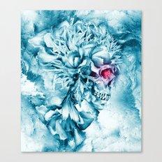 Frozen Skull Canvas Print