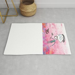 Little cat and the guy with ax, colors Rug