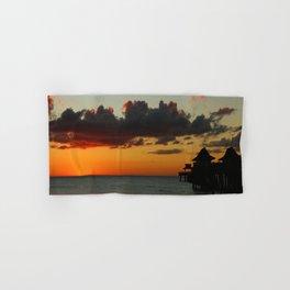 Naples Pier Sunset Hand & Bath Towel