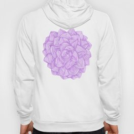 Purple flower, bohemian,elegant style. Hoody