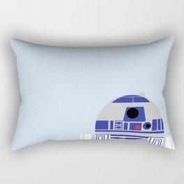 Beep Boop on Light Blue Rectangular Pillow