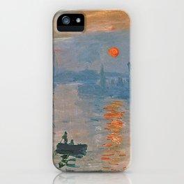 Monet - Soleil levant iPhone Case