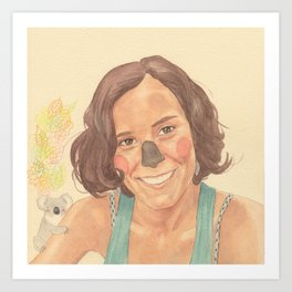 The koala girl Art Print