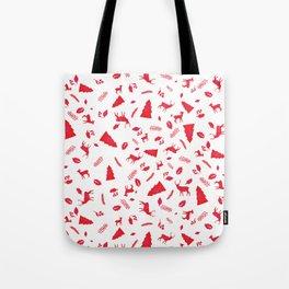 Scandinavian Christmas Pattern Tote Bag