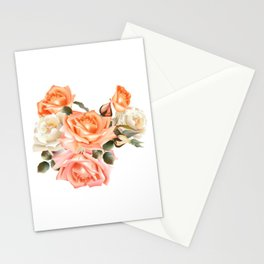Modern Victorian Roses Stationery Cards
