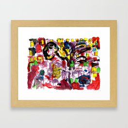 The Street Party 14 Framed Art Print