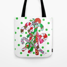 Candy Cane Party Tote Bag