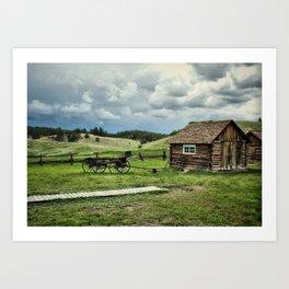 Adeline Hornbeck Homestead - Florissant Fossil Beds NM Art Print
