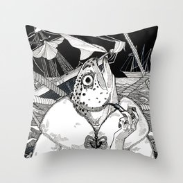 The Cryptids - Mermaid Throw Pillow