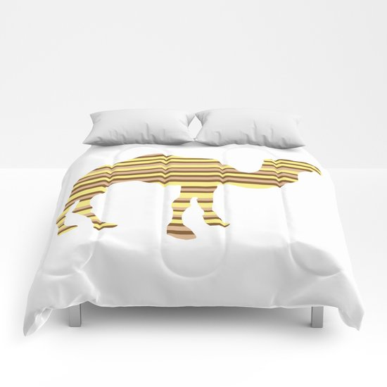 Camel Stripes Comforters