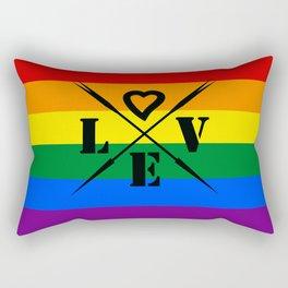 Rainbow color .  love Rectangular Pillow
