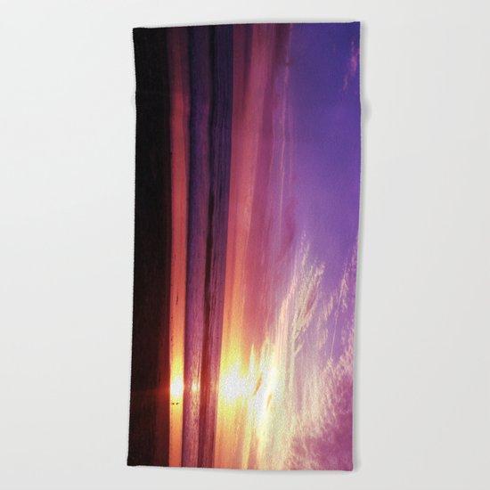 Photography + Color - Purple Daze Beach Towel