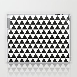 Black And White Triangles Pattern Laptop & iPad Skin