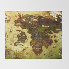 Eorzea map Throw Blanket