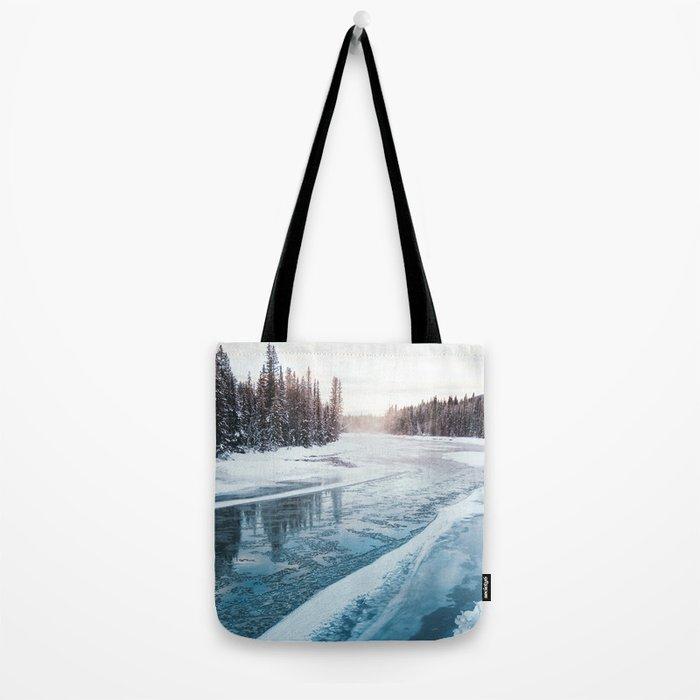 Frosty River Banks Tote Bag