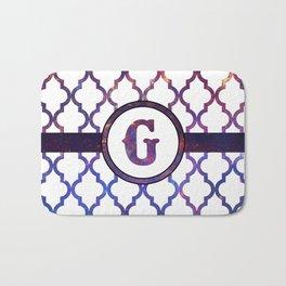 Galaxy Monogram: Letter G Bath Mat
