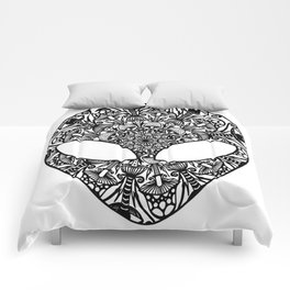 Alien Mushroom Mandala Comforters