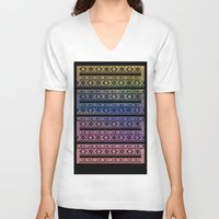 navajo V-neck T-shirts featuring Navajo by Sarah Slegh