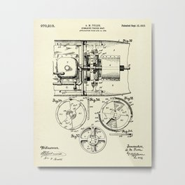 Submarine Torpedo Boat 11-1910 Metal Print
