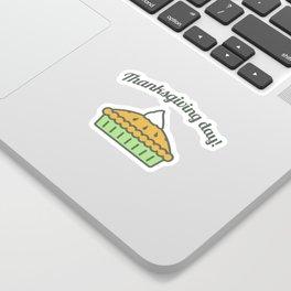 Happy Thanksgiving Day Pie Design Sticker