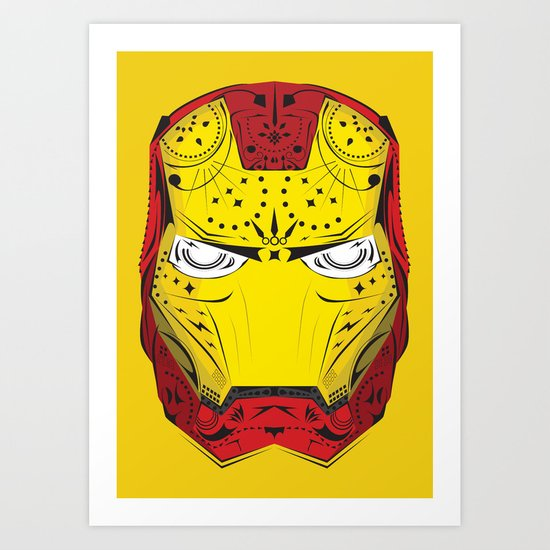 Sugary Iron Man Art Print