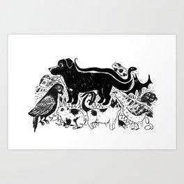 Hello Companions Art Print