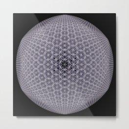 Purple Mosaic Mandala Metal Print