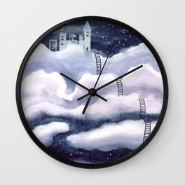 Living in the Clouds Wall Clock
