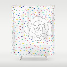 Peony Confetti Fiesta Shower Curtain