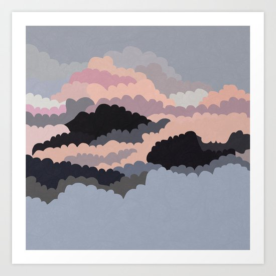 Magic Sunset Clouds On The Sky Art Print