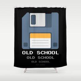 Old School Computer Floppy Diskette Shower Curtain