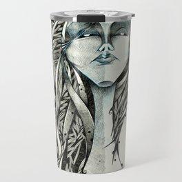 Mulher azul Travel Mug