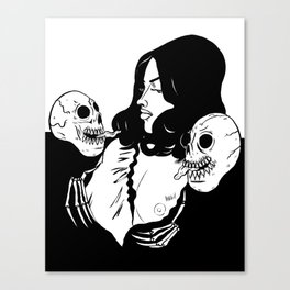 Skull Princess Canvas Print