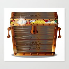 Full Pirates Treasure Chest Canvas Print