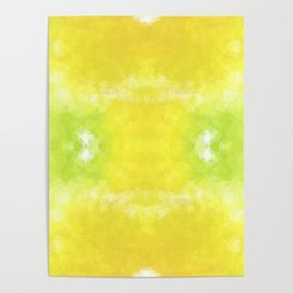 """Lemon jello"" triangles design Poster"