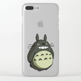 totorocoloured smile Clear iPhone Case