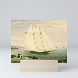 Schooner 19th century Painting Mini Art Print